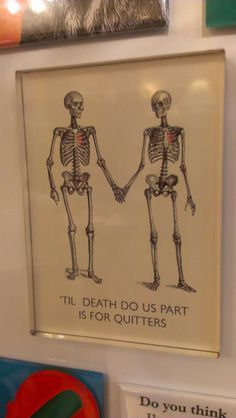 'til death do us part is for quitters. I love this! Just In Case, Just For You, After Life, To Infinity And Beyond, Married Life, Love And Marriage, Happily Ever After, Graphic, Funny