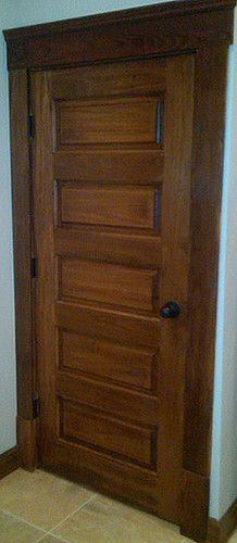 Victorian Style Interior Door  1 Panel Door With Roseets Stained In A Toner  Wood Finish  Bought At Nicksbuilding.com   Interior Doors   Pinterest    Interior ...