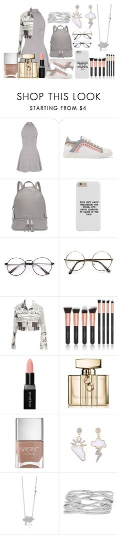 """Rainy Day"" by reignie on Polyvore featuring Sophia Webster, Michael Kors, Christian Dior, Smashbox, Gucci, Nails Inc. and M&Co"