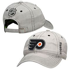 6d633545760 Stand out from the crowd this hockey season with this Philadelphia Flyers  Center Ice Slouch Adjustable Cap from Reebok! This hat is all gray with  black ...