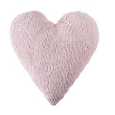 When have you ever heard of a washable cushion? Probably never, but that will change when you pick up a Lorena Canals Heart Pink Washable Cushion. Beautiful and practical. Perfect for the modern family. Amelie & Max