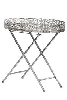 Engraved pewter tray and glass base with cross leg detail. This side table is a feminine and decorative addition to a lounge setting. Mr Price Home, Butler Tray, Home Decor Online, Home Look, Pewter, Home Furniture, Glass, Table, Design