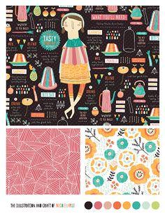 Nicole LaRue, Lilla Rogers Bootcamp, JELLO Fabric illustrations!