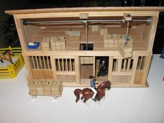 Toy Horse Barn (with working hay bale hoists) - by johnzo @ LumberJocks.com ~ woodworking community