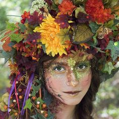 Fairy headdress fairy crown Autum fairy by MermaidSanctuary