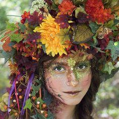 Fairy headdress fairy crown Autum fairy by MermaidSanctuary