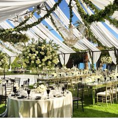 Beautiful tent wedding!