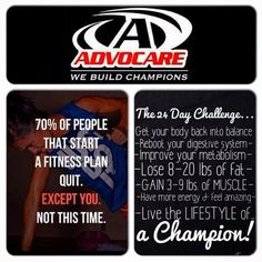 Start your 24 day challenge with my so I can help you every step of the day!!