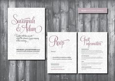 Wedding Invitation Suite - Digital Printable File - Bliss Wedding Range - DIY Wedding