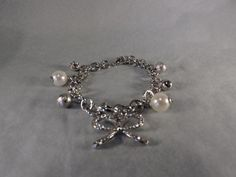Bracelet charm's perles métal argenté