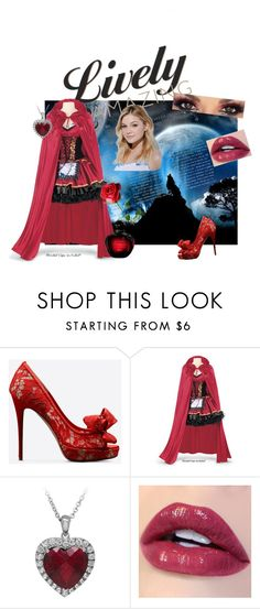 """""""little red riding hood"""" by alice-et-bella325 ❤ liked on Polyvore featuring Valentino and Neutrogena"""