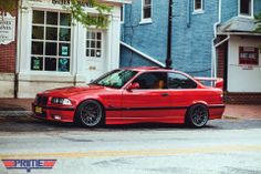 BMW E36 M3 red
