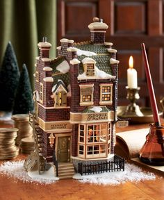 """The Charles Dickens' classic brings the true meaning of Christmas. For more information on Dickens' """"A Christmas Carol"""" Village visit http://www.department56.com or shop 24/7 http://shop.department56.com"""