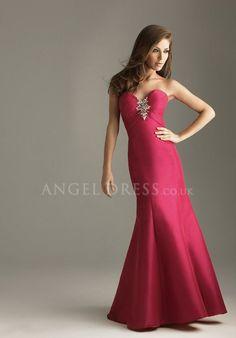 Taffeta Mermaid Sweetheart Natural Waist With Beading Floor Length Evening Dress