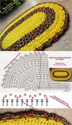 Crochet Paisley, Crochet Mat, Crochet Rug Patterns, Crochet Carpet, Crochet World, Crochet Home, Bead Crochet, Crochet Stitches, Crochet Tablecloth