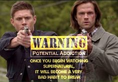 """So true.started """"binge watching"""" all the seasons on Netflix.had never heard of it.started w/Jeffrey Dean Morgan & the crew. Sam Winchester, Winchester Brothers, Jared Padalecki, Jensen Ackles, Supernatural Quotes, Spn Memes, Jeffrey Dean Morgan, Very Bad, Super Natural"""