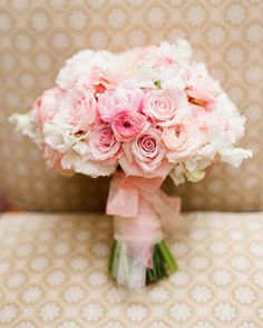 Romantic Floral Pink Bouquet  #wedding #bouquet #pink #flowers #romance