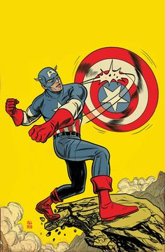 Captain America by Mike Allred