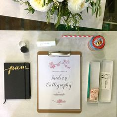 Today on the blog I'm sharing a little bit of the last Modern Calligraphy Workshop at @aworkofheartstudio and also some good news! Come join us for the next one on April 2nd at 10am. Link to the whole story in profile.