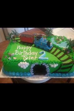 Thomas train sheet cake for birthday