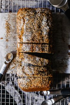 From Lindsay Maitland Hunt's new cookbook Healthyish, this Seeded Whole Wheat Banana Bread is the healthy banana bread recipe you will keep going back to!