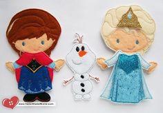 Frozen Inspired - Princess Annie and Elsie Felt Paper Dolls Set