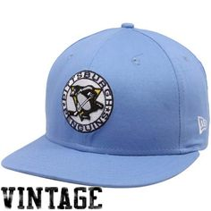 New Era Pittsburgh Penguins Light Blue Back In The Day 2 9FIFTY Snapback Adjustable Hat
