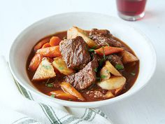 Beef Stew with Root Vegetables Recipe : Ree Drummond : Food Network....eat over her creamy cheddar grits.