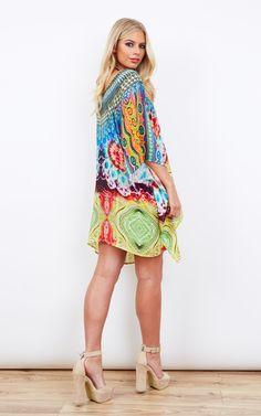 4f29a05986 Maho Silk Printed Kaftan - SilkFred Drip Dry, Kaftan, Beachwear, Kittens,  Beach