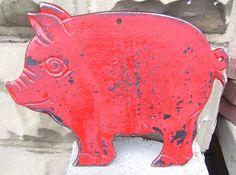 cast iron pig.
