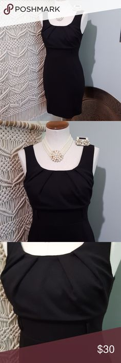 Audrey Hepburn Black Dress Necklace & Earrings Simple and classy Halloween costume for that Audrey Hepburn Breakfast at Tiffany's look. Black form fitting sleeveless sheath dress by Voila, size women's Small. Gathered scoop neckline. Waist has belt loops so you can accessorize with a belt or tie a scarf. Hits at knee. Stunning pearl and rhinestone multi-layer necklace and matching cluster stud earrings. Necklace alone cost $30! Just pull your hair up into a high bun, add black sunnies, and…