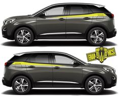 Excited to share this item from my shop: Side door vinyl decal sticker for Peugeot 3008 Peaces) Truck Stickers, Car Decals, Vinyl Decals, Peugeot 3008, Racing Stripes, Side Door, Car Brands, Grey Yellow, Clock
