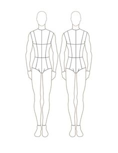 fashion croquis printable - Google Search