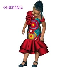 Ankara Styles For Kids, African Dresses For Kids, Ankara Gown Styles, African Children, Dresses Kids Girl, African Wear, African Clothes, Kids Outfits, Kids Gown