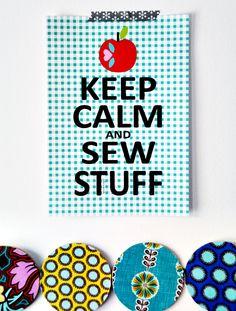 Jolijou - A4 Poster - Keep Calm  Sew Stuff