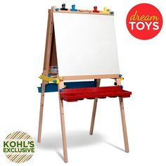 Melissa & Doug toys at Kohl's - This Melissa & Doug wooden art easel features chalk and dry-erase boards and adjustable heights. Shop the full selection of toys and games at Kohl's. Wooden Art, Wooden Toys, Indoor Playroom, Art Easel, Toddler Christmas, Christmas Ideas, Summer Activities For Kids, Kids Fun, Melissa & Doug