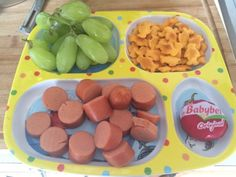 "hislittlebookishbelle: "" Lunch today! "" Toddler Lunches, Healthy Toddler Meals, Healthy Kids, Kids Meals, Toddler Food, Space Snacks, Space Food, Cute Food, Yummy Food"