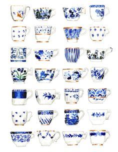 Blue and white... What else