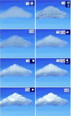 {title} (avec images)   Peindre des nuages, Cours de peinture acrylique