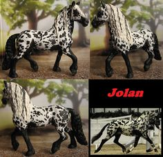 Forgot to post this one, schleich friesian stallion repainted appaloosa