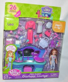 New FASHION Pieces Polly Pocket Club Groove Glamour Lounge with Lea Dolls C5849