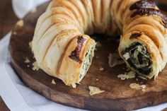 Greek Spanakopita-Inspired Swiss Chard and Feta Bundt Recipe. Flaky layers of phyllo dough with soft greens and sharp feta in between — pastry and flavor in every bite. This is a fast, quick, and easy take on the dish, assembled as a bundt pan meal for dinners or breakfasts!