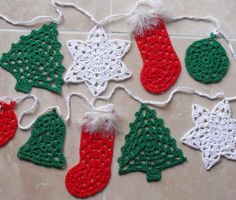 Best 12 Christmas bunting – granny style Crochet pattern by Agrarian Artisan Crochet Bunting Pattern, Crochet Ornament Patterns, Crochet Garland, Crochet Snowflakes, Knitting Patterns, Free Christmas Crochet Patterns, Crochet Tree, Crochet Angels, Crochet Granny