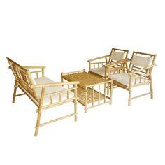 ZEW SET-015 Bamboo Sofa Set