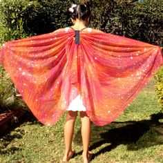 Fairy Wings, Butterfly Wings, Bird Wings, Dress Up Clothes, Pretend Play Toy, Kids Gift, Birthday Gift, Silky Wings, Dress Up Wings