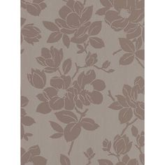 Buy Graham & Brown Rose Wallpaper, Gold/Taupe from our Wallpaper range at John Lewis & Partners.