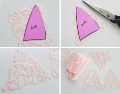 How to sew a pretty lace triangle Lace Fashion Bralette with wide strapes on a budget, easy DIY tutorial with full instructions Bralette Pattern, Lace Bralette, Fashion Sewing, Diy Fashion, Sewing Bras, Sewing Diy, Fashion Design Classes, Diy Bra, Diy Tops