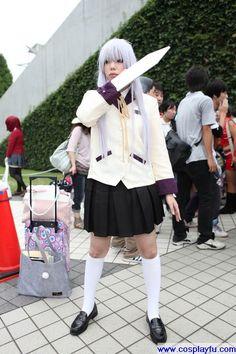 Angel (Kanade Tachibana) Cosplay from Angel Beats! in Summer Comiket 78 2010 Tokyo Anime Couples Manga, Cute Anime Couples, Anime Girls, Cosplay Outfits, Cosplay Costumes, Cosplay Ideas, Angel Beats, Erza Scarlet, Manga Illustration