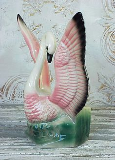 Vintage Ceramic Swan Planter by RustySpoke on Etsy, $67.00