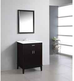 Kokols 24 Bathroom Vanity Set kokols clear vessel sink pedestal bathroom vanity (clear vessel